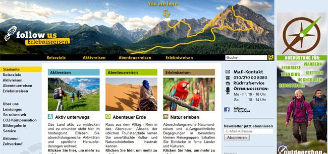 Spezialreisebüro für Abenteuerurlaub, Aktivreisen und Erlebnisreisen rund um den Globus