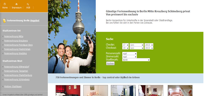 preiswerte Ferienwohnungen in Berlin