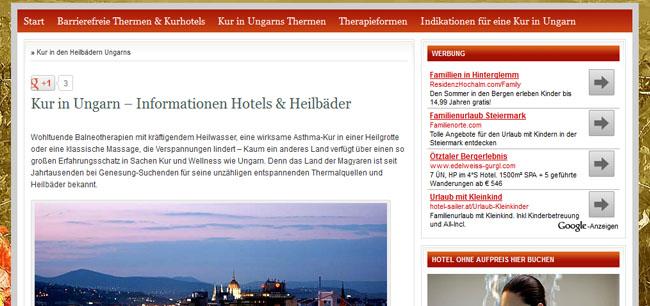 Kur in Ungarn – Informationen, Hotels & Heilbäder