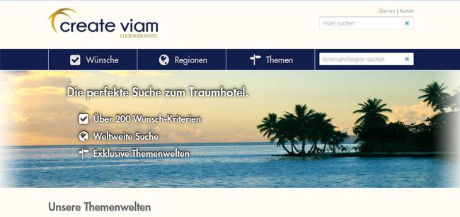 Create Viam - Hotelsuchportal für Luxushotels