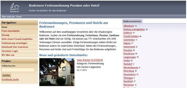Ferien-Portal Bodensee